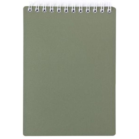 """Блокнот А6 80л Хатбер гр. """"Metallic"""" т-зеленый пласт.обл."""