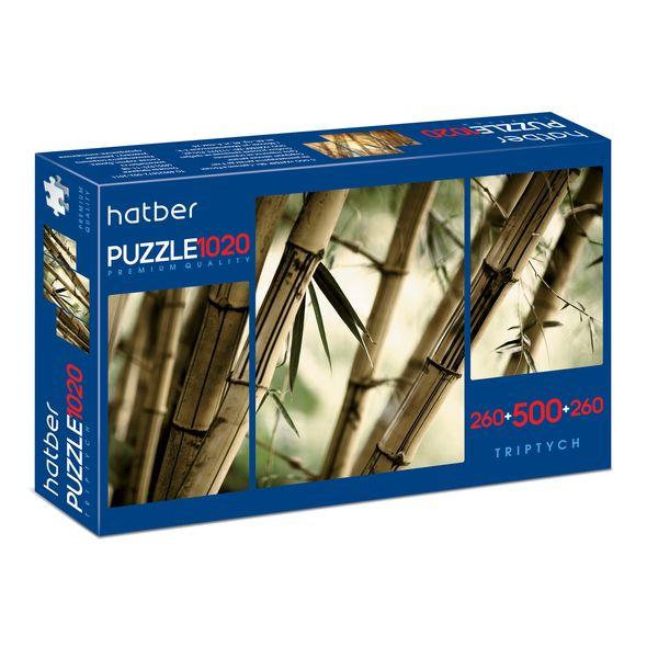 """Пазл  260+500+260 эл. Хатбер 3 картинки в кор. """"Бамбуковый лес"""""""