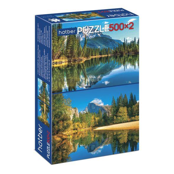 """Пазл  500+500 эл. Хатбер 2 картинки """"Горное озеро"""""""