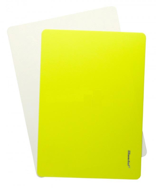 Доска для лепки А4 Silwerhof Neon пластик 1мм желтая