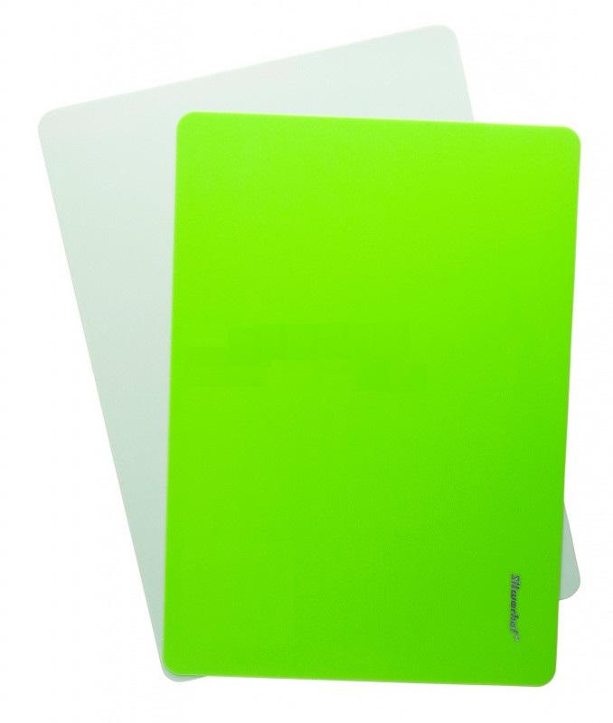 Доска для лепки А4 Silwerhof Neon пластик 1мм зеленая