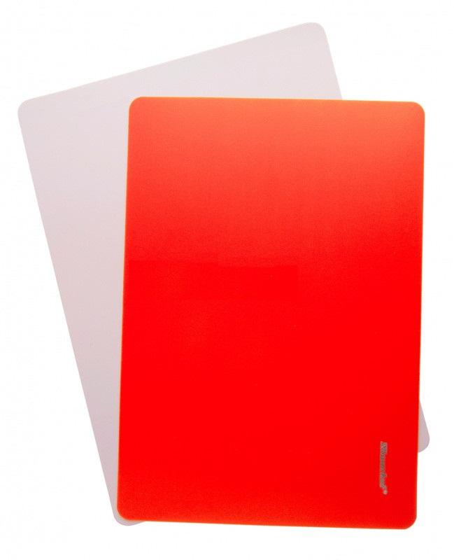Доска для лепки А4 Silwerhof Neon пластик 1мм оранжевая