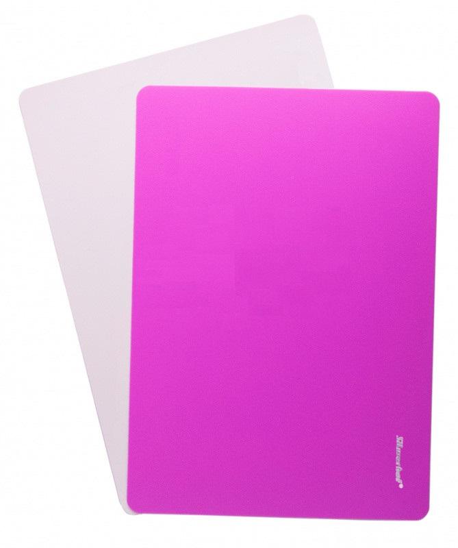Доска для лепки А4 Silwerhof Neon пластик 1мм розовая