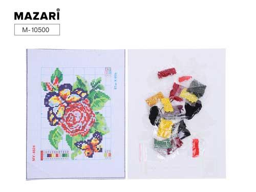 Набор д/вышивания бисером Mazari 20*29см 12 дизайнов