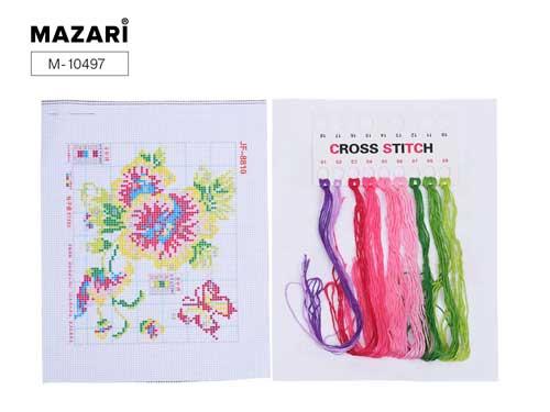 Набор д/вышивания крестиком Mazari 20*29см 12 дизайнов