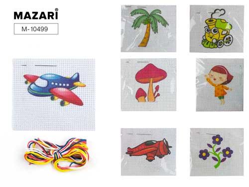 Набор д/вышивания крестиком Mazari 9*10см 20 дизайнов