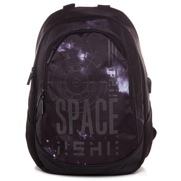 "Рюкзак Хатбер STREET ""Space"" USB-выход 2 отделения 3 кармана"