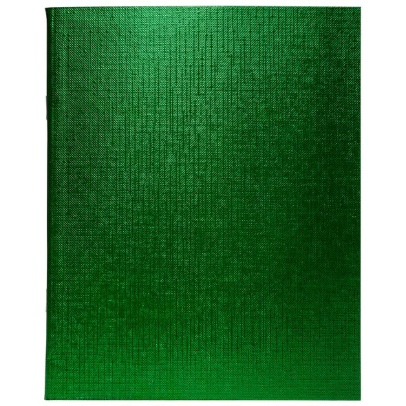 Тетр. 96л бумвин. Хатбер Metallic зеленая