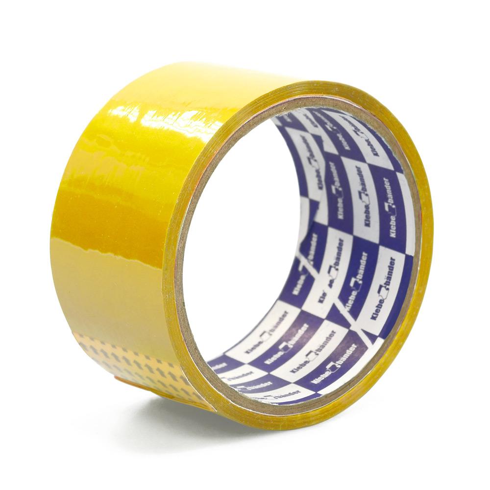 Клейкая лента упаковочная 48мм* 25м Klebebander желт. 45мк