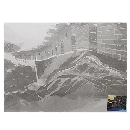 Холст на картоне с эскизом 30*40см Великая Китайская стена