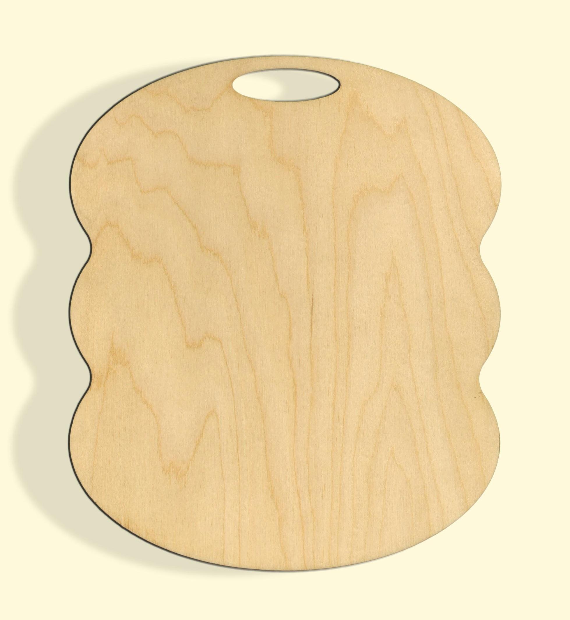 Деревянная заготовка из фанеры Доска разделочная №6 450*377