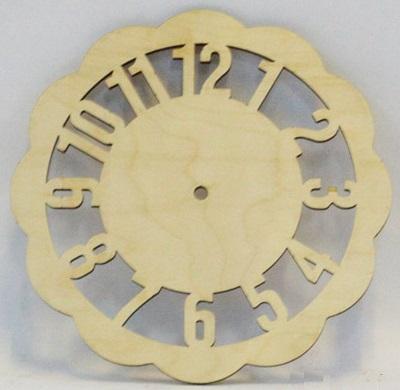Деревянная заготовка из фанеры Циферблат арабский №4 300мм
