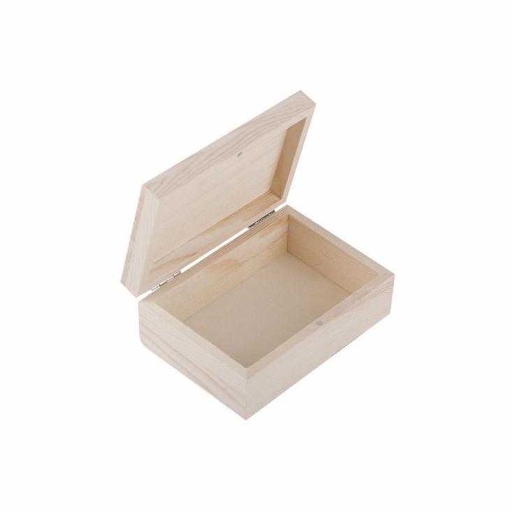 Шкатулка деревянная Сонет 135*95*50мм сосна