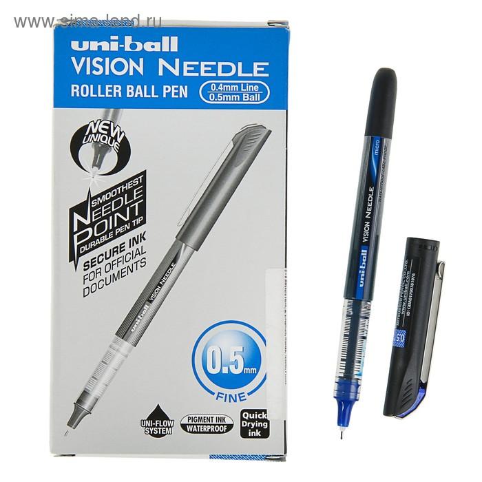 Ручка роллер UNI-Ball Needle 0,5мм синяя