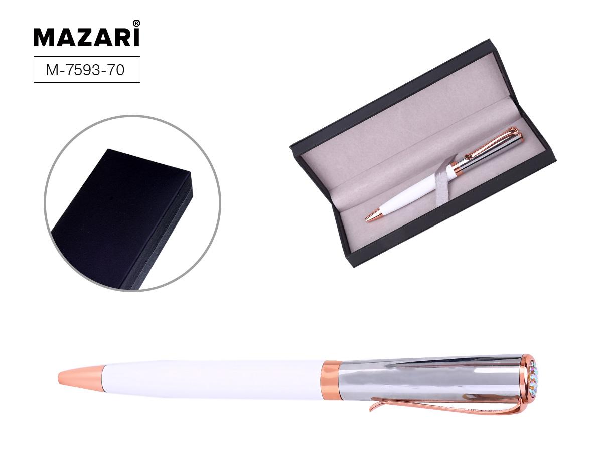 Ручка Mazari поворот.мех. Allegra 0,7мм металл.кор.син.