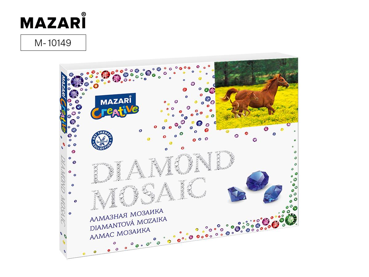 Алмазная мозаика полная выкладка 40*50см Лошадь с жеребенком