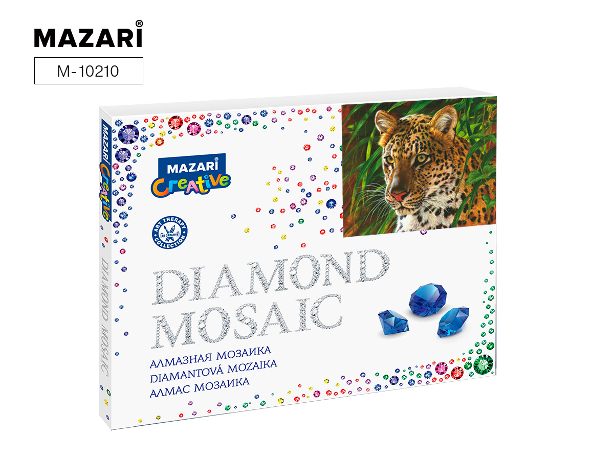 Алмазная мозаика 40*50см Хищная кошка