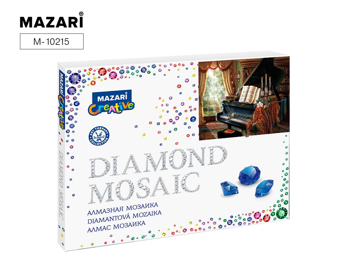 Алмазная мозаика 40*50см Черный рояль