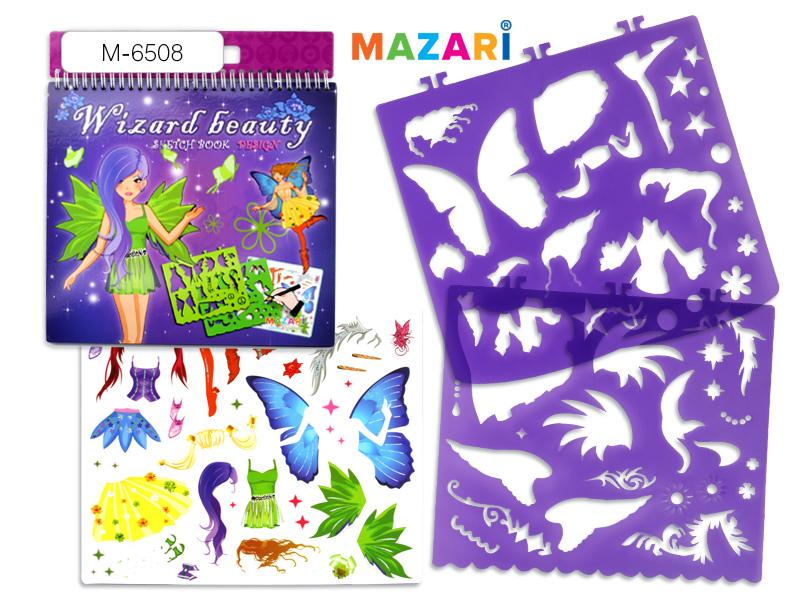 Альбом д/творч. Mazari с трафар. и наклейк. Волшебные феи