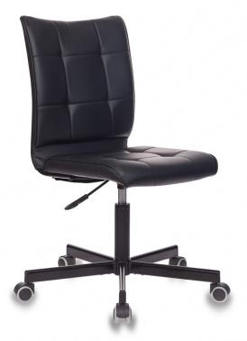 Кресло Бюрократ CH-330M/Blak б/подлокот. иск.кожа черный