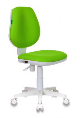 Кресло детское Бюрократ CH-W213/TW-18 салатовый пласт. белый