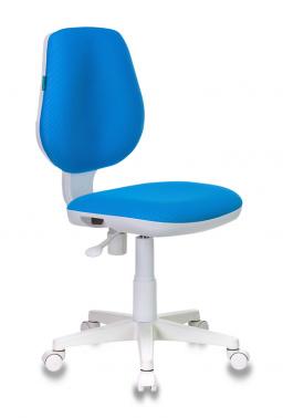 Кресло детское Бюрократ CH-W213/TW-55 голубой пласт. белый