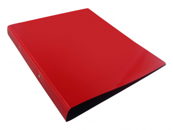 Папка на 2х кольцах 32мм Бюрократ DeLuxe 0,7мм красная