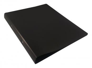 Папка на 2х кольцах 32мм Бюрократ DeLuxe 0,7мм черная
