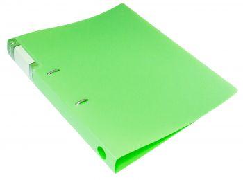Папка на 2х кольцах 32мм Бюрократ Gems 0,7мм зеленый турмали