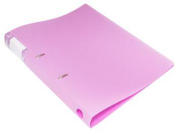 Папка на 2х кольцах 32мм Бюрократ Gems 0,7мм розовый аметист