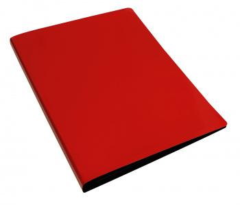 Папка с бок.мет.приж. Бюрократ DeLuxe 0,7мм красный