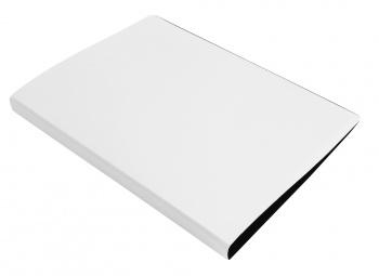 Папка с бок.мет.приж. Бюрократ DeLuxe 0,7мм молочный