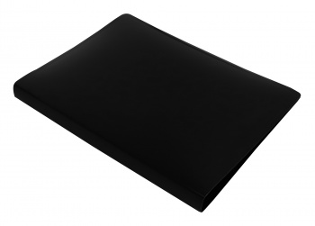 Папка с бок.мет.приж. Бюрократ DeLuxe 0,7мм черный