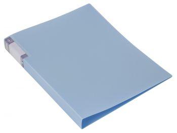 Папка с бок.мет.приж. Бюрократ Gems 0,7мм голубой топаз