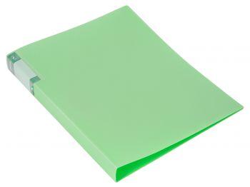 Папка с бок.мет.приж. Бюрократ Gems 0,7мм зеленый турмалин