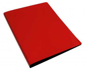 Папка с мет.скоросш. Бюрократ DeLuxe 0,7мм красная