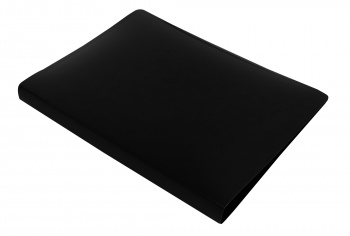 Папка с мет.скоросш. Бюрократ DeLuxe 0,7мм черная