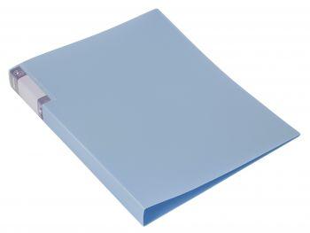 Папка с мет.скоросш. Бюрократ Gems 0,7мм голубой топаз