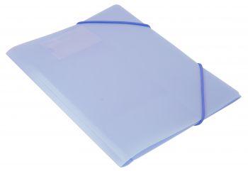 Папка на резинках Бюрократ А4 Gems 0,5мм голубой топаз