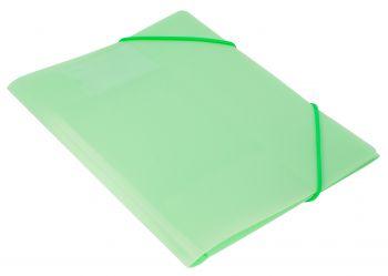 Папка на резинках Бюрократ А4 Gems 0,5мм зеленый турмалин