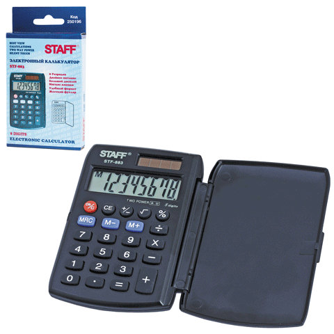 Калькулятор карм. Staff STF-883 дв. пит. 95*62мм