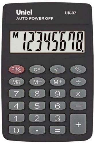 Калькулятор карм. Uniel UK-07  8-разр. 88*58мм