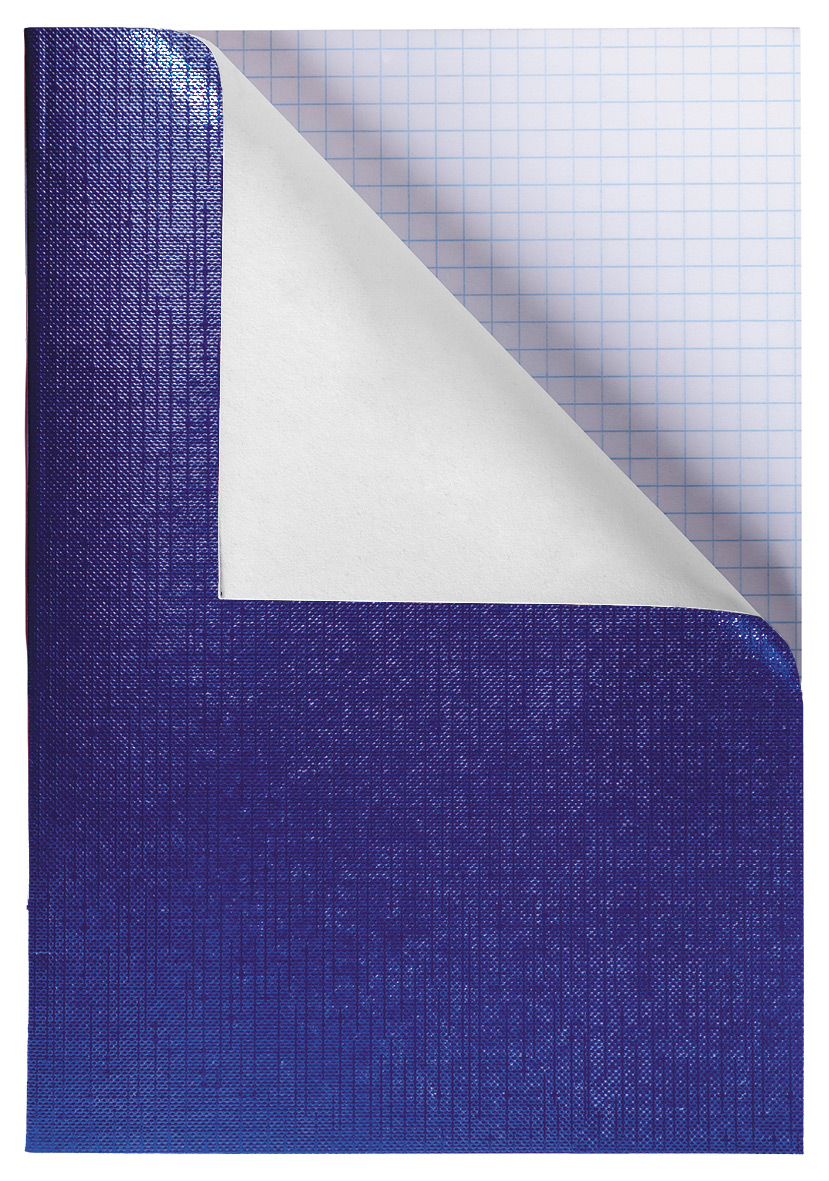 Тетр. А4  96л бумвин. Хатбер Metallic синяя