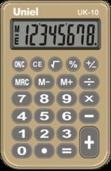 Калькулятор карм. Uniel UK-10(BG)  8-разр.  94*62мм зол.-беж