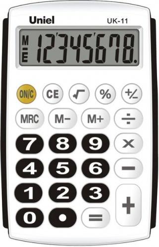 Калькулятор карм. Uniel UK-11K  8-разр. 97*62мм черно-белый