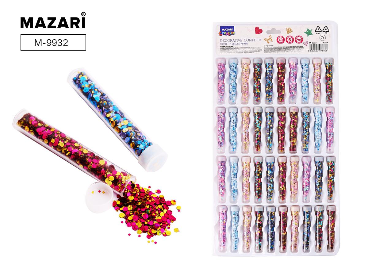 Набор блестки Mazari №2 конфети в пласт.тубе ассорти