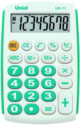 Калькулятор карм. Uniel UK-11В  8-разр.  97*62мм бирюза