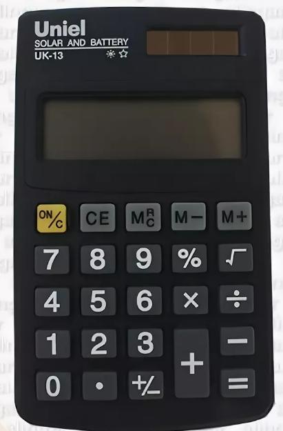 Калькулятор карм. Uniel UK-13B  8-разр. 102*61мм темно-синий