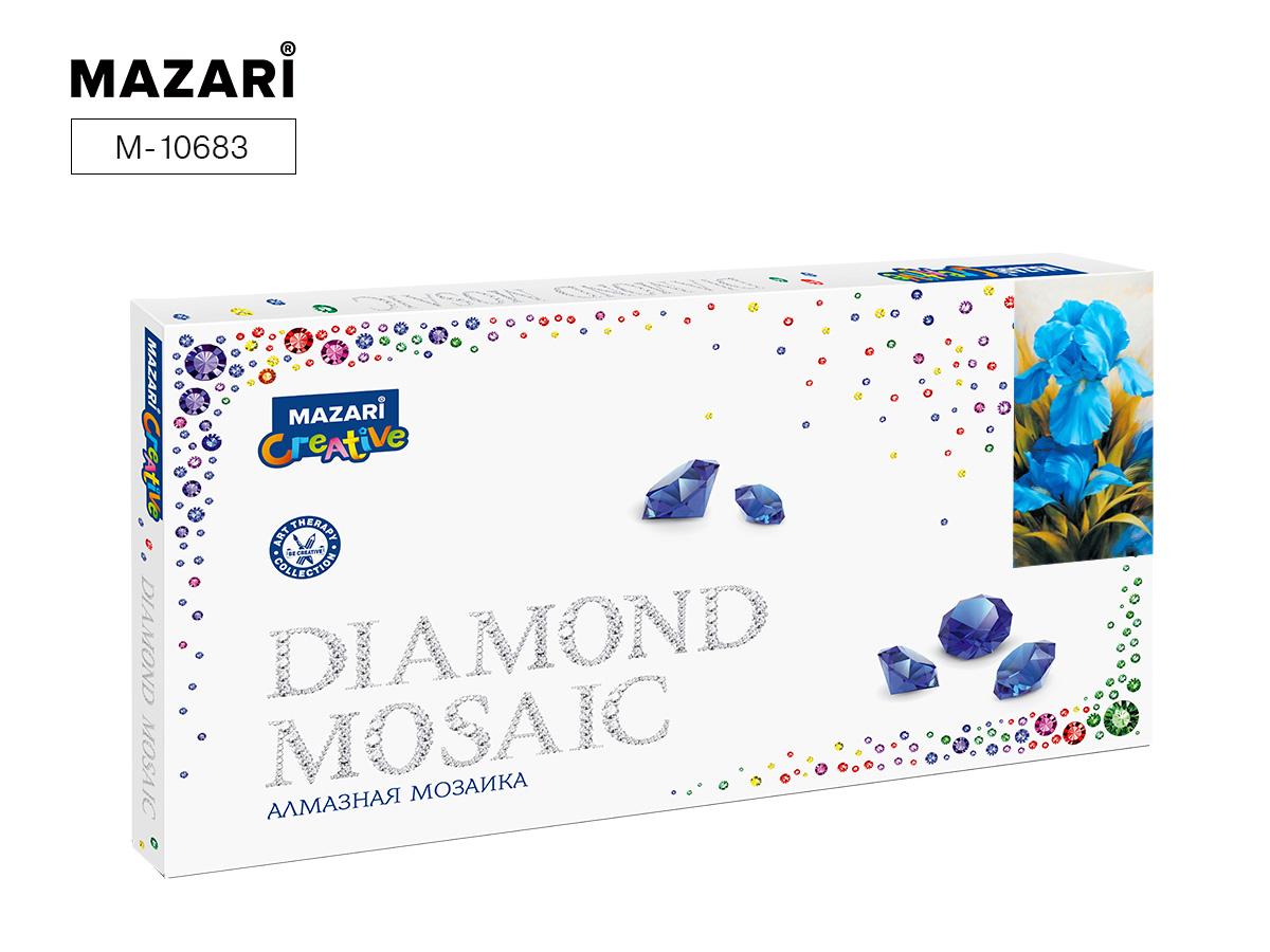 Алмазная мозаика 22*40см Ирисы частичная выкладка