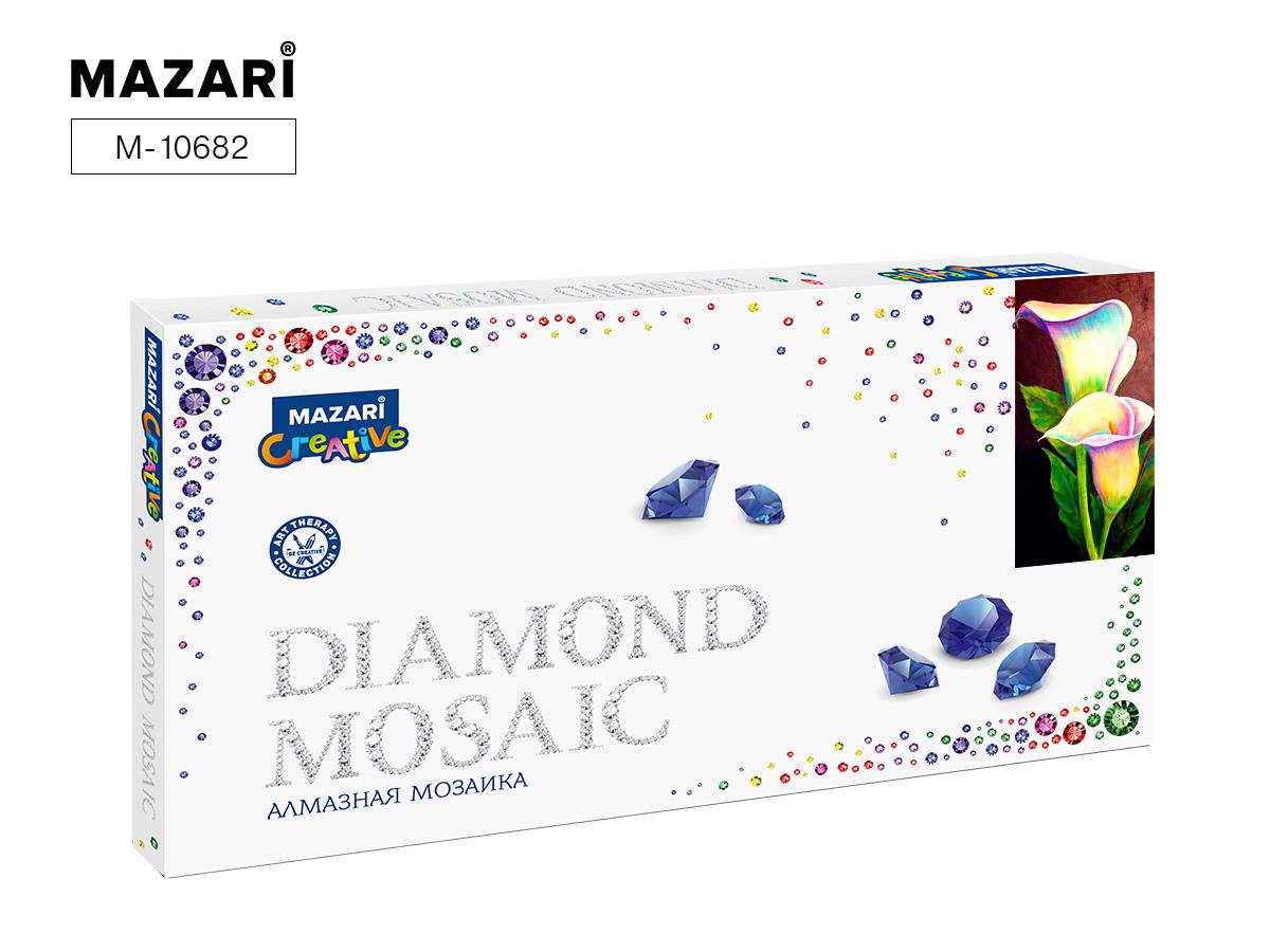 Алмазная мозаика 22*40см Каллы частичная выкладка